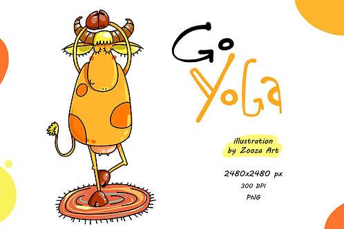 Go Yoga - illustration PNG