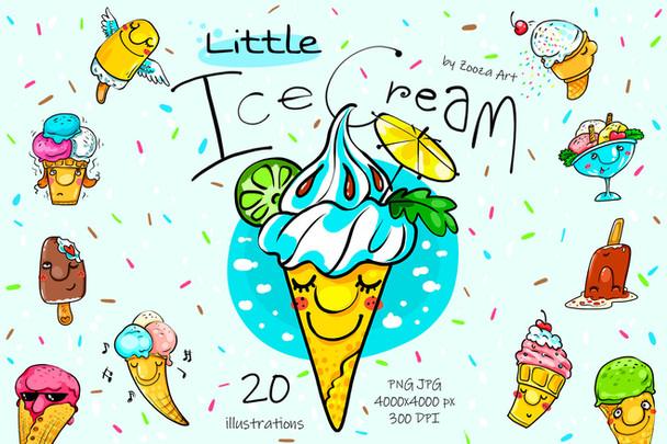 Little Ice Cream - 20 illustrations