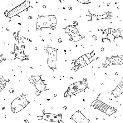 pattern cats 2 BW.jpg