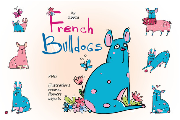 French Bulldogs - sticker pack