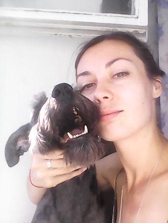 Zooza art Ekaterina Putilova with a dog Max photo