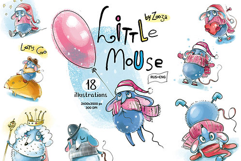 Little Mouse - 18 illustrations