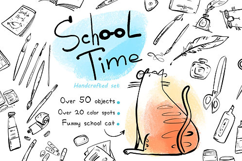 School Time - over 50 handcrafted objects