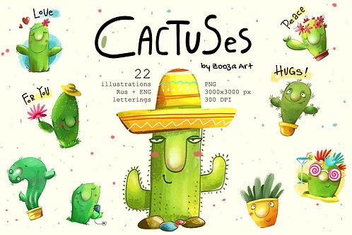 Cactuses illustrations