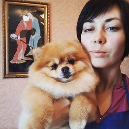 Ekaterina Putilova Zooza Art photo with a dog