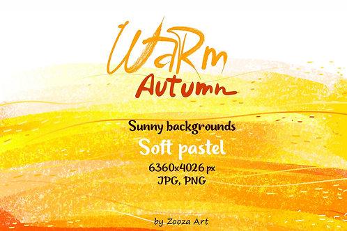 Warm Autumn sunny pastel backgrounds