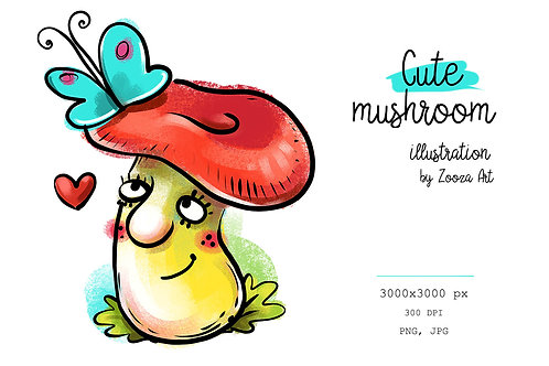 Cute Mushroom illustration