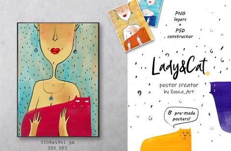 Poster constructor: Ladu&Cat