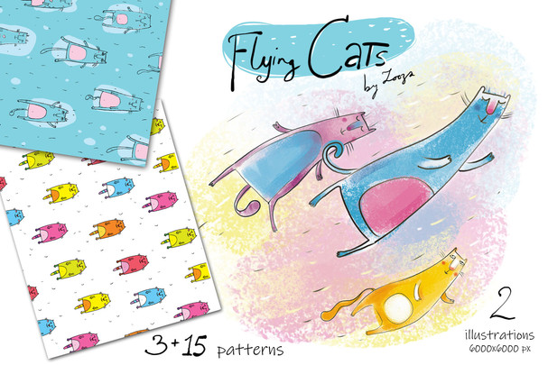 Flyinf cats