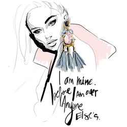 I am mine #girlpower #grlpwr #monicaruf #sketchbook #illustration #fashionillustration #quoteoftheda