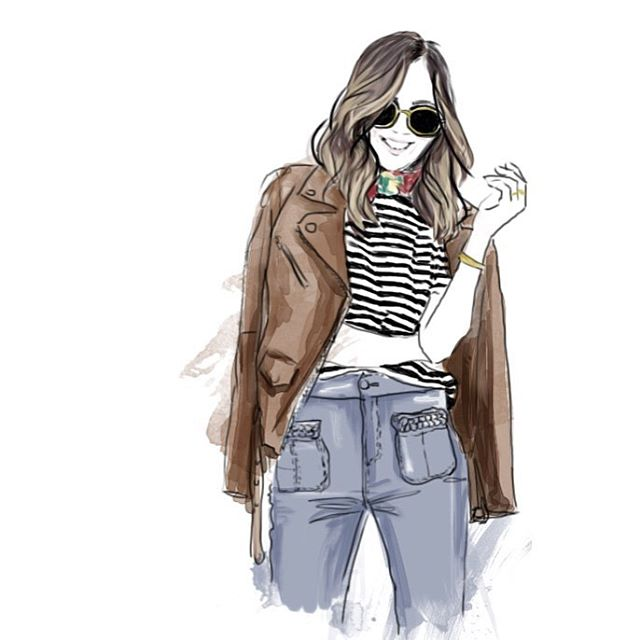 The beautiful Aimee Song _songofstyle #aimeesong #songofstyle #illustration #fashionillustration #fa
