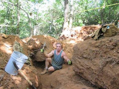 John Siefke digging at Emerald Hollow Mine