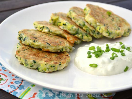 zucchini fritters with tzatziki | Lunch | Snack