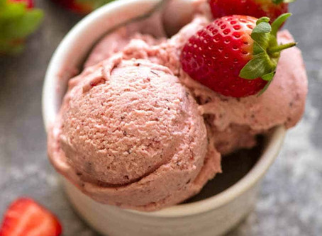 Strawberry Ice Cream | Dessert