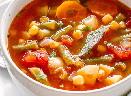 Simple Slow-Simmered Vegetable Broth | Lunch