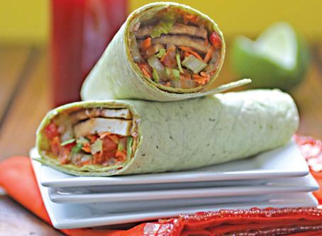 Thai Tofu Vegetable Wraps | Lunch
