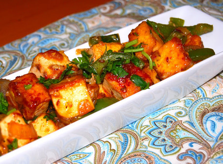 Chili and Curry Baked Tofu   Dinner