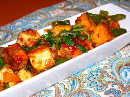 Chili and Curry Baked Tofu | Dinner