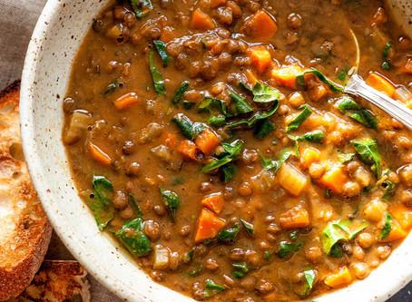 Lentil-Vegetable Soup | Lunch