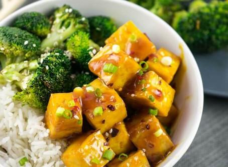 """Orange-Glazed """"Chicken"""" Tofu   Dinner"""