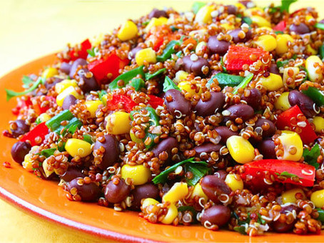 Bbq Black Beans And Corn Over quinoa | Lunch