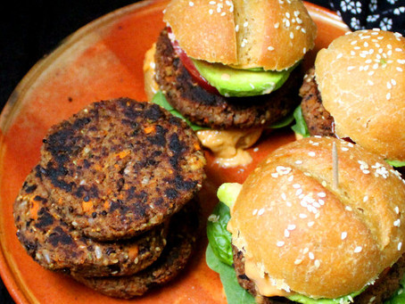 Hot and Spicy Black Bean Burgers | Dinner