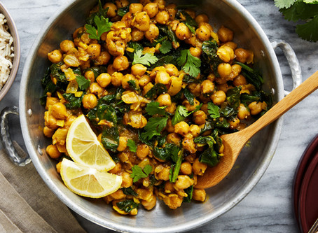 Indian-Spiced Chickpeas with Spinach   Dinner