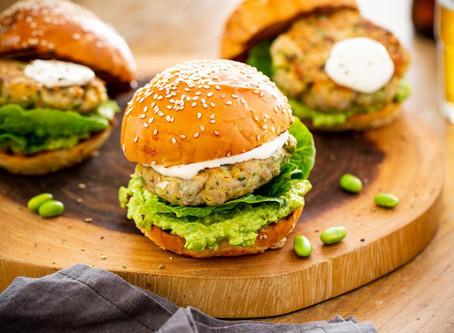 Tasty Edamame Burger   Dinner