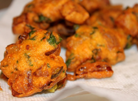 Onion Chile Fritters | Snack | Lunch