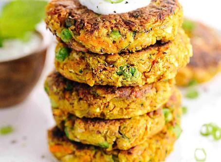 Savoury Split Pea and Rice Zucchini Cakes | Snack