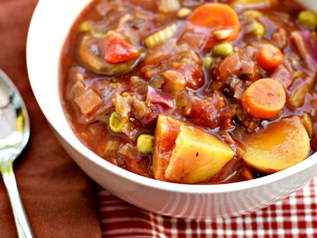 Hearty Vegetable Slow Cooker Stew | Lunch