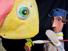 David Woodin -fisherman and Amalpha pupp