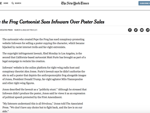 Every artist craves to be in the New York Times