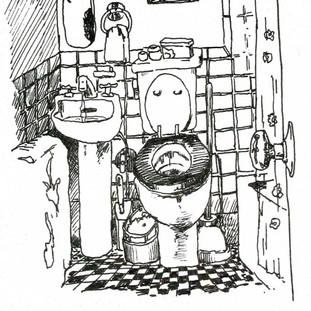 West 9th Street Bathroom study