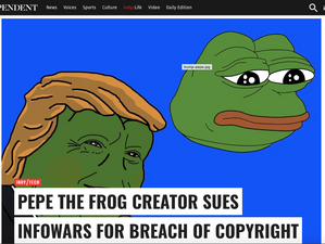 The Independent covers the Pepe controversy