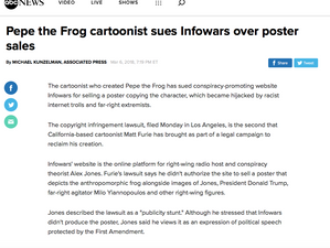 ABC covers Pepe and Infowars