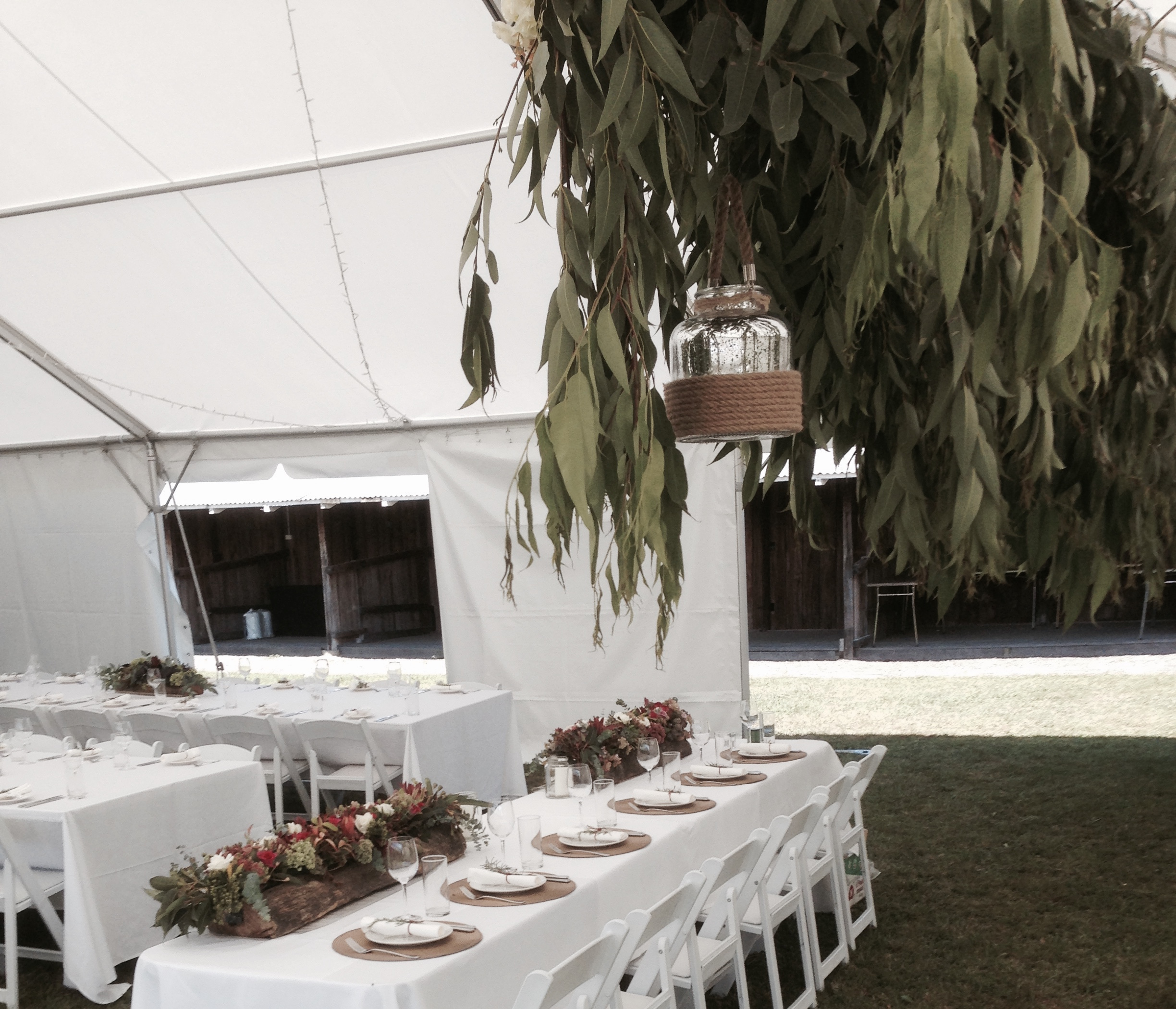 Inside the Marquee at Showgrounds