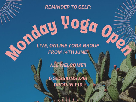 Monday Evenings from 14th June until Summer holidays (6 weeks)