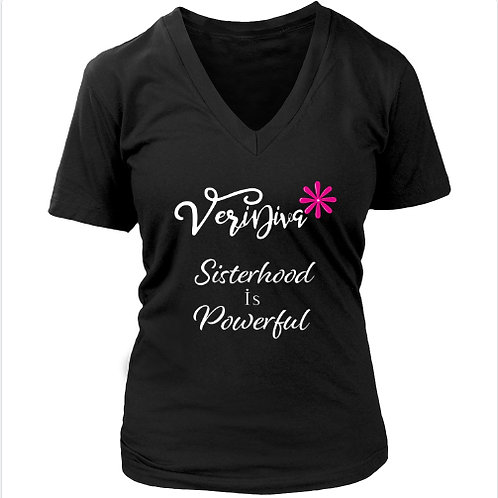 VeriDiva V-Neck Sisterhood T-Shirt