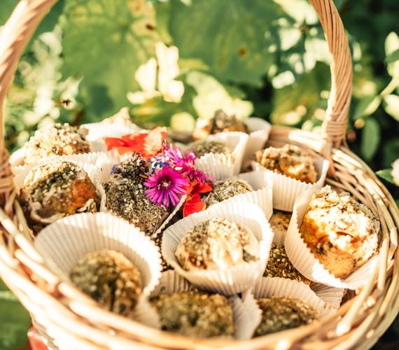 Baumspinat-Aprikosen Muffin aus Buchweizen-Reismehl