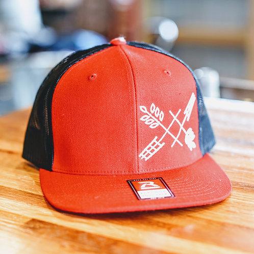 Red Flat Bill Hat