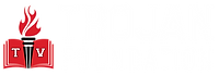 Trojan Foundation Logo - horizontal whit