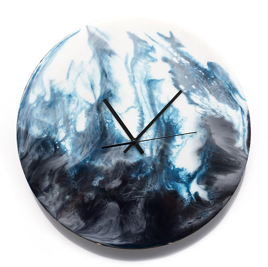 Mountain Lake・Planet・Hand made wall clock