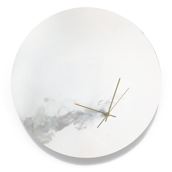 GREY・Planet・Hand made wall clock