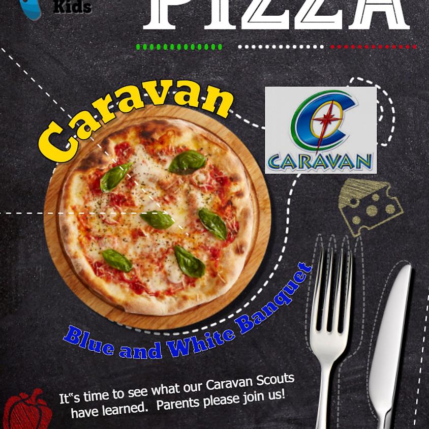 CARAVAN Blue and White Banquet