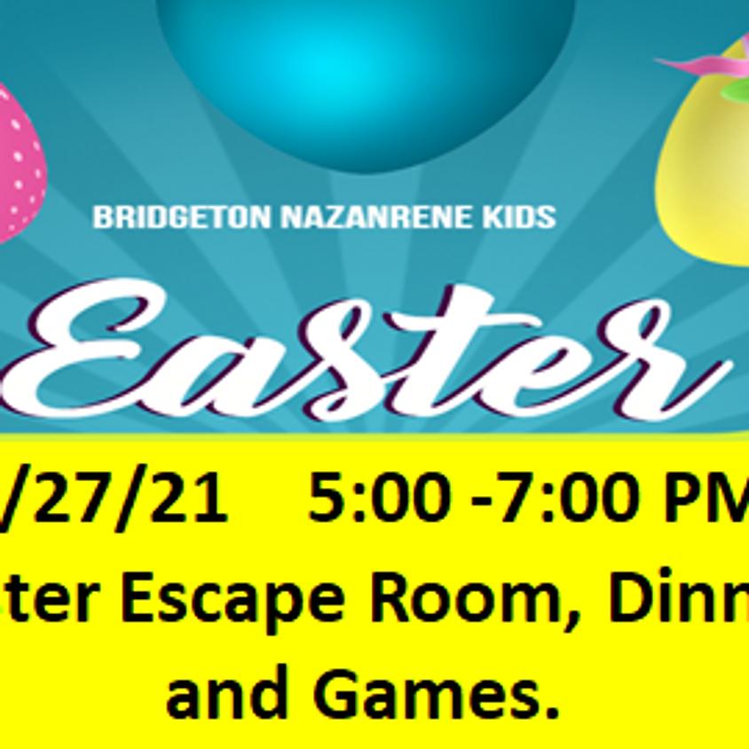 Easter Escape Room for grades1-6, including Dinner.
