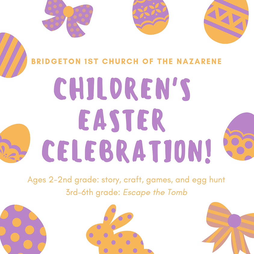 Children's Ministry Easter Event