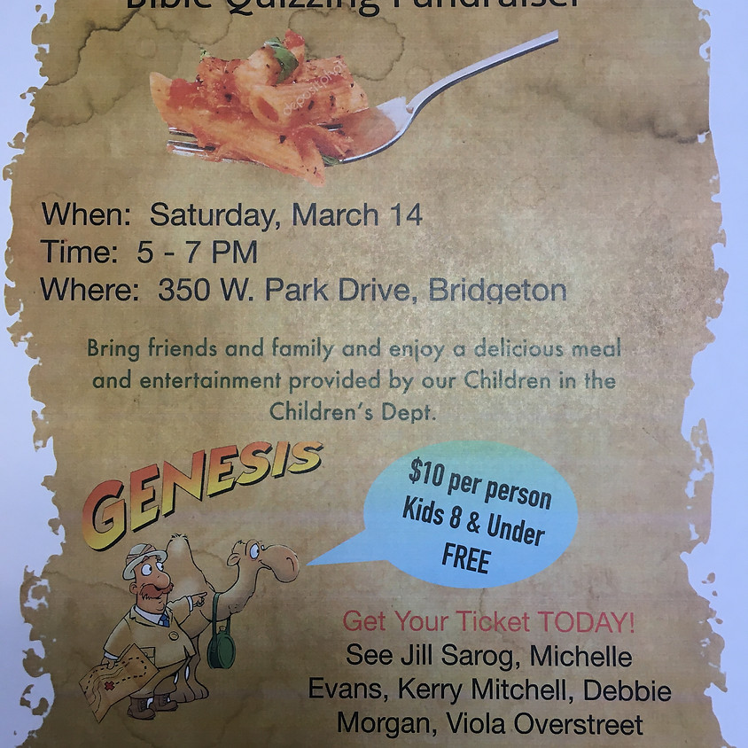 Dinner and Entertainment Fundraiser for Bible Quizzing