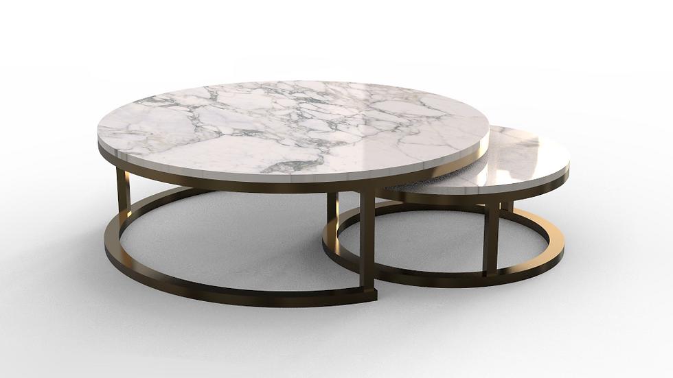 Twin Circular Coffee Table