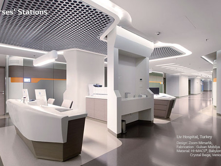HI-MACS® Acrylic Solid Surface in Healthcare Environment